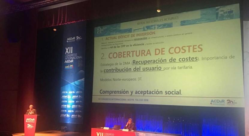 inversión necesaria infraestructuras agua asciende 60 euros per cápitaaño, AEAS