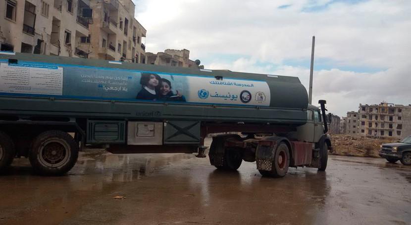 Alerta Siria: 5,5 millones personas siguen agua