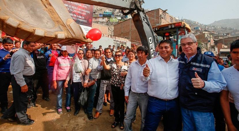 vecinos San Juan Lurigancho contarán agua potable y alcantarillado agosto 2018