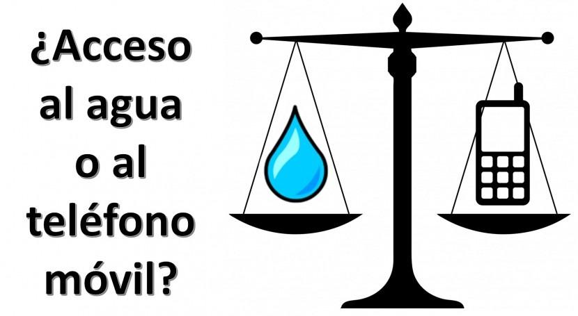 ¿Acceso al agua o al teléfono móvil?