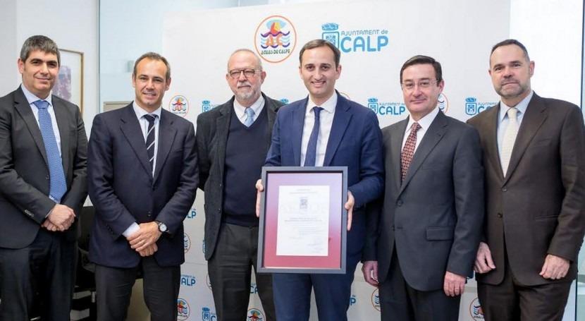 Aguas Calpe, primera empresa Alicante que certifica sistema Gestión Riesgos