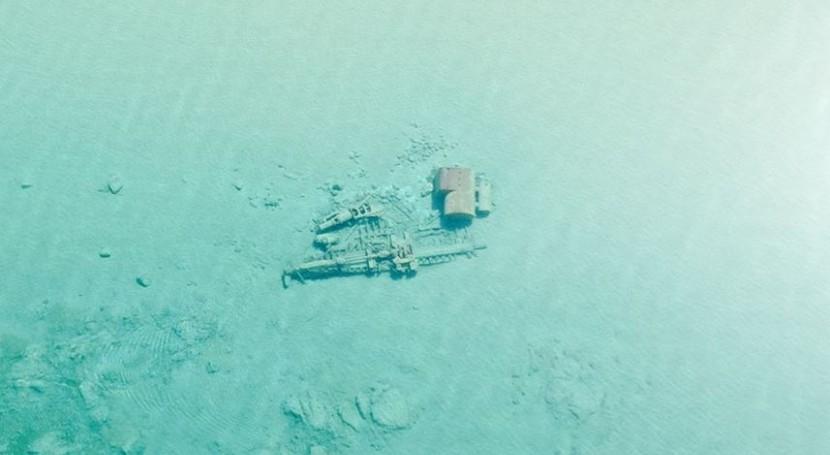 aguas lago Michigan son tan claras que se pueden ver naufragios fondo