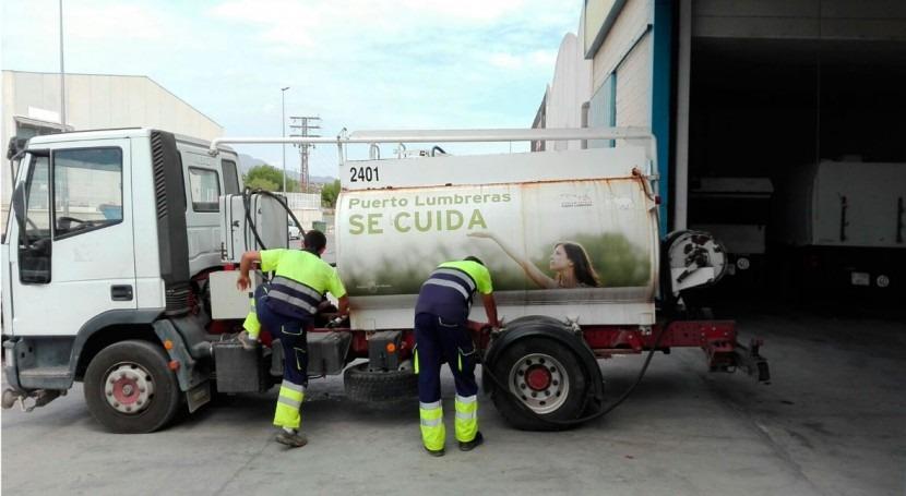 ¿Cómo se ahorran millón litros agua Puerto Lumbreras?