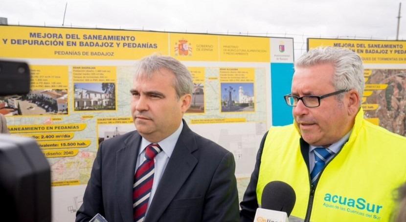 Francisco Javier Fragoso y Emilio del Pozo atendieron a los medios durante la visita