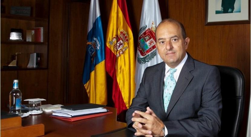 El alcalde de Las Palmas de Gran Canaria, Juan José Cardona