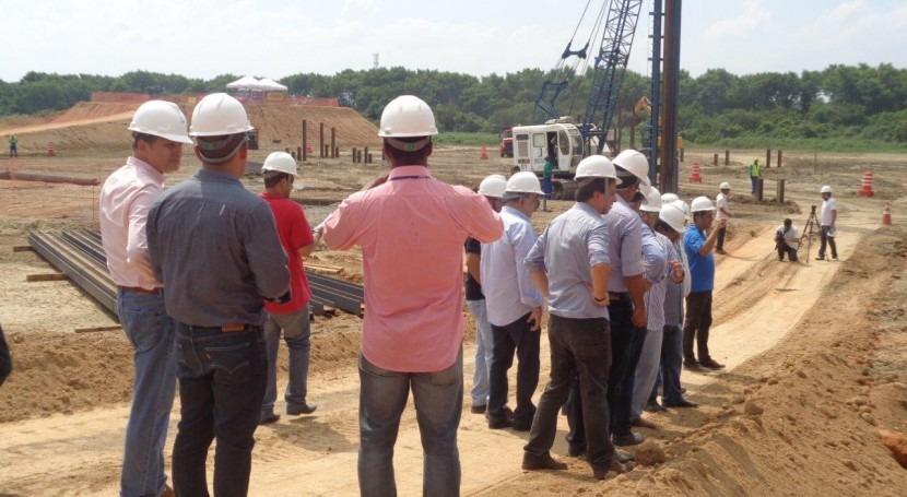 Secretario Medio Ambiente Brasil visita obras saneamiento y EDAR Alcantara