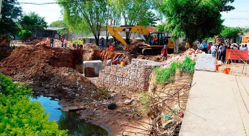 obras alcantarillado sanitario Asunción y San Lorenzo, Paraguay, arrancarán abril