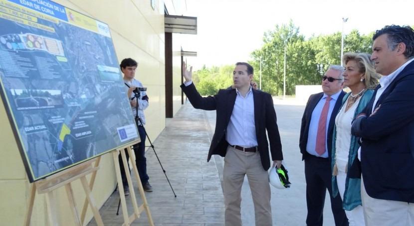 marcha línea aguas nueva EDAR Coria, inversión 5,1 millones euros
