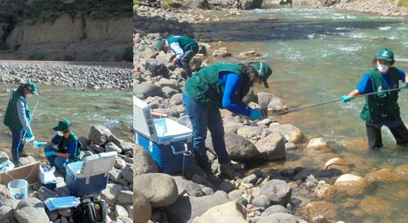 ANA realiza monitoreo calidad recursos hídricos Huancavelica