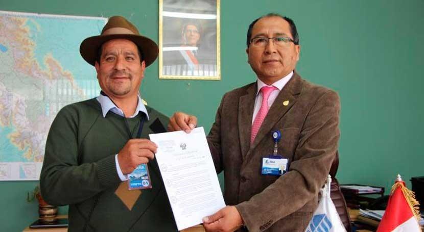 Pataypampa recibe acreditación disponibilidad hídrica sistemas riego