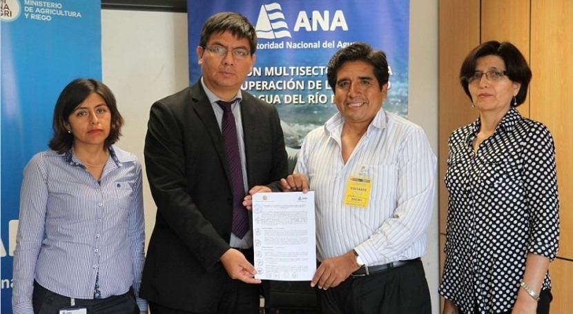 La Autoridad Nacional del Agua ha suscrito dos convenios con corporaciones locales