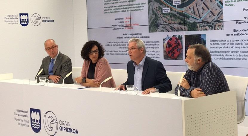 Guipuzkoa mejorará saneamiento rio Oiartzun Errenteria