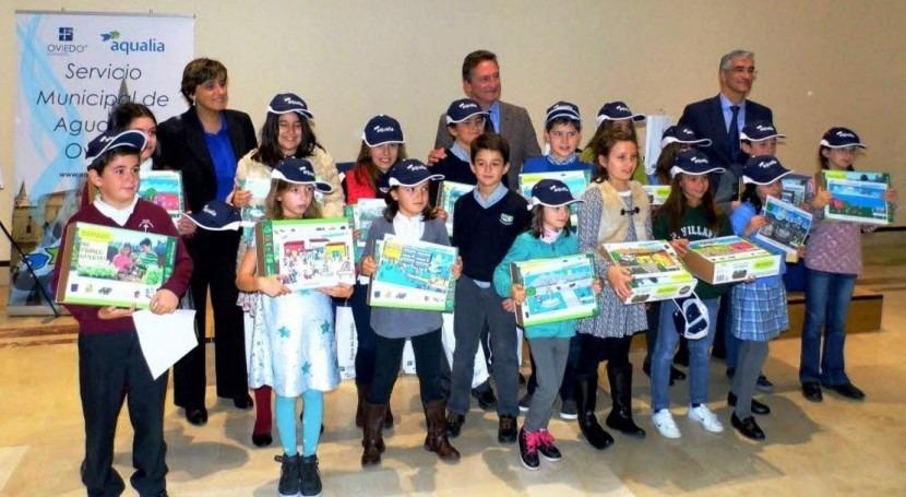 niña Oviedo, ganadora Concurso Internacional Dibujo Infantil Aqualia