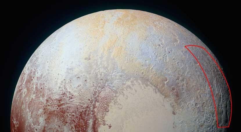 araña hielo se extiende Plutón