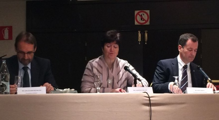Aránzazu Vallejo durante su intervención.