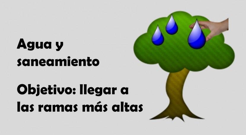 Agua y saneamiento. Objetivo: llegar ramas más altas