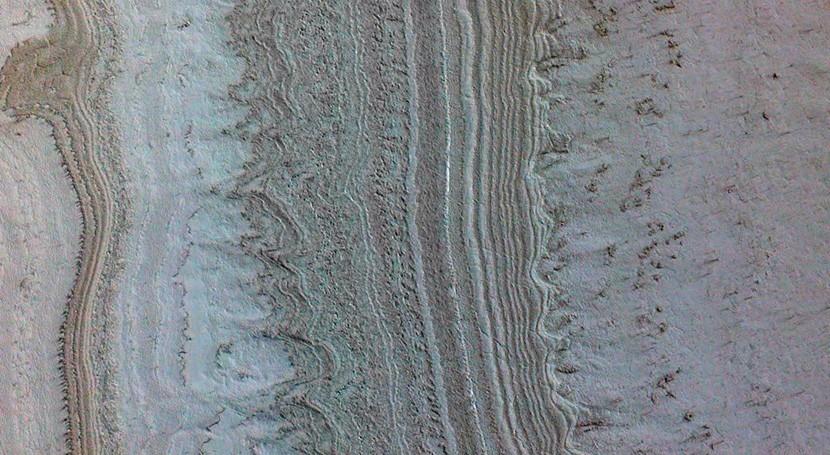 """arcillas, y no agua, son fuente probable """"lagos"""" Marte"""