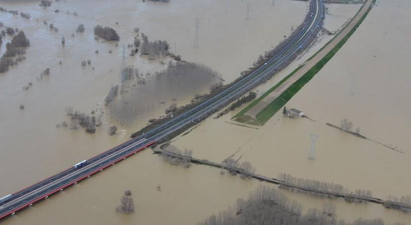Inundaciones en Arguedas (Gobierno de Navarra).