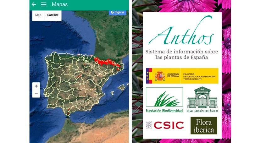 biodiversidad plantas España, ahora disponible app