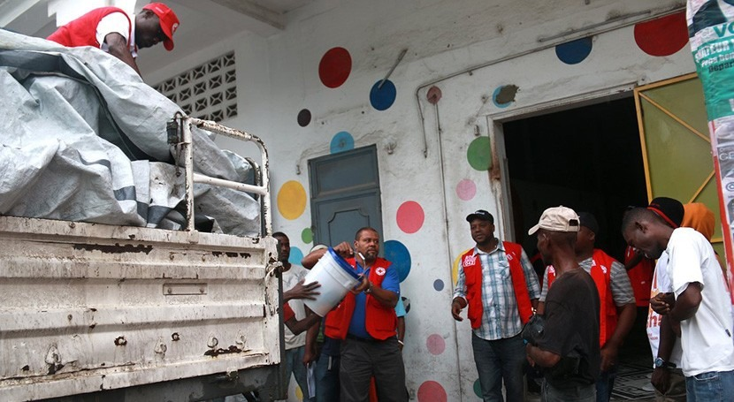 Cruz Roja amplía asistencia agua, saneamiento e higiene contener cólera Haití