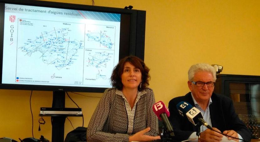 Gobierno balear mejora depuración aguas invirtiendo 50% anual más respecto 2016