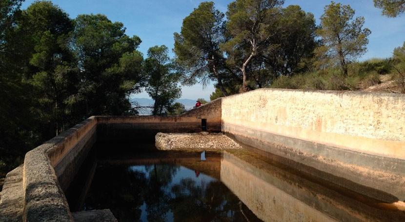 Murcia restaura balsa Carmona Sierra Espuña