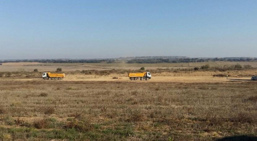Comienza construcción balsas regulación Salillas y Huerto Huesca