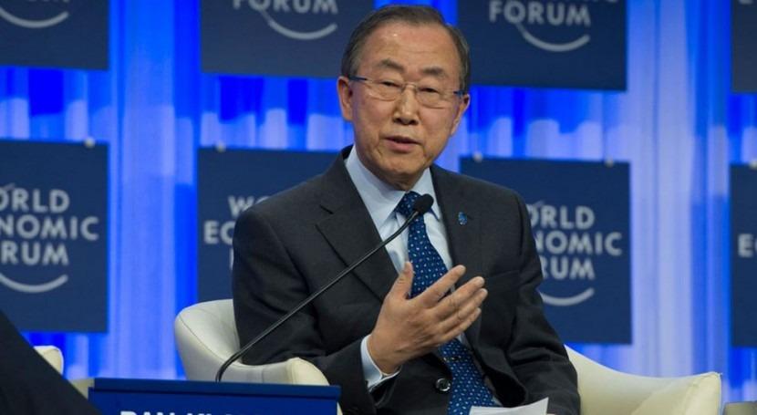 Ban Ki-moon en el Foro Económico Mundial en Davos.