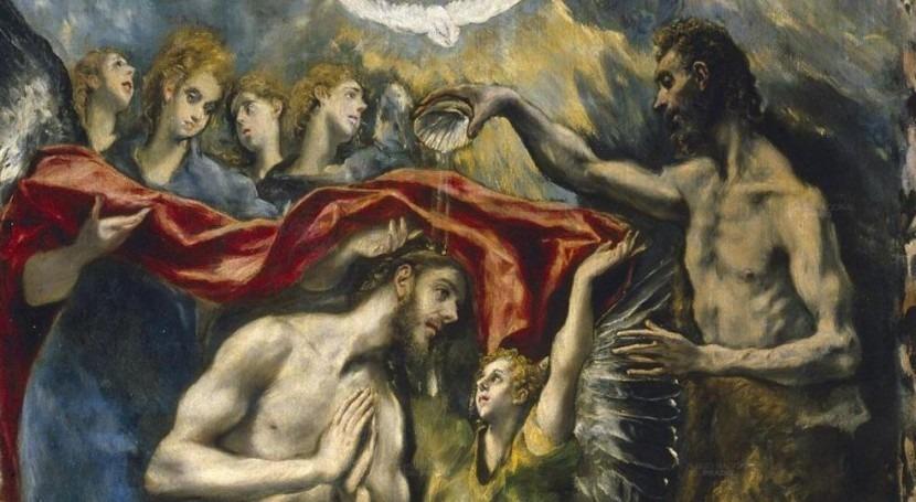 El bautismo de Cristo (El Greco, Museo del Prado)