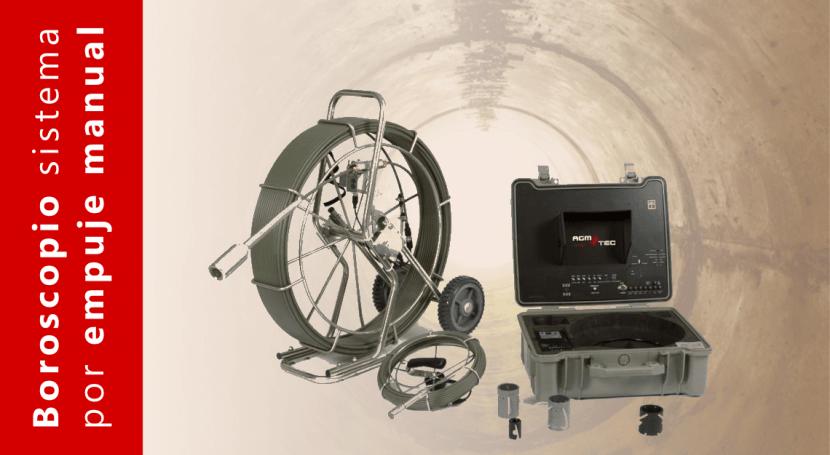 boroscopio videocámara empujada manualmente