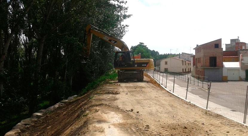 CHE inicia reparación daños producidos crecidas Cabañas Ebro