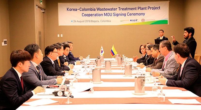 Corea hace donación Colombia nueva planta tratamiento aguas residuales