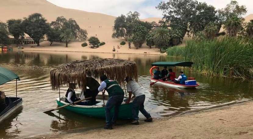 Perú analiza calidad agua laguna Huacachina