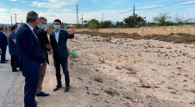 Damià Calvet subraya inversión 1,6 millones minimizar inundaciones zonas urbanas