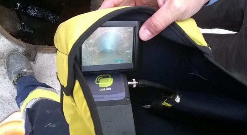 Aqualia inspecciona redes alcantarillado Sanlúcar cámara televisión
