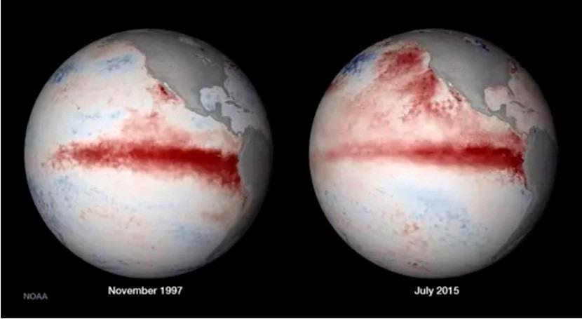 """nuevo y extraño patrón climático provoca que fenómeno """" Niño"""" sea cada vez más intenso"""