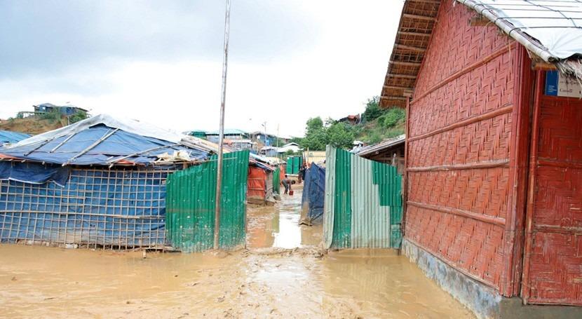 lluvia amenaza futuro refugiados rohinyás Bangladés
