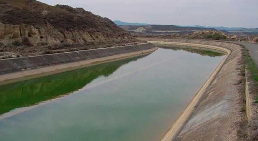 Mantenimiento infraestructuras zona regable canales Monegros y Cinca