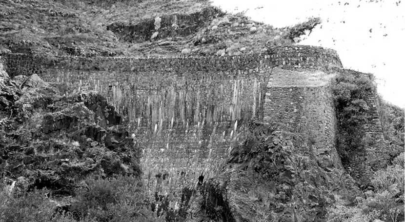 Nota informativa Vieja pirámide útil #LaGomera: Presa Cocos (1914)