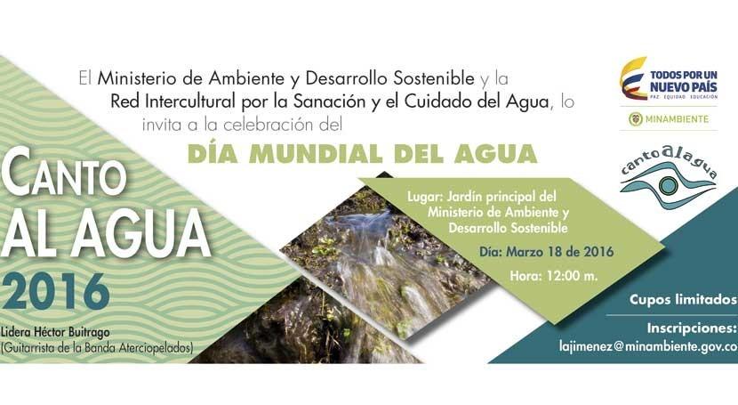 Conversatorios, cantos y becas celebrar Día Mundial Agua Colombia