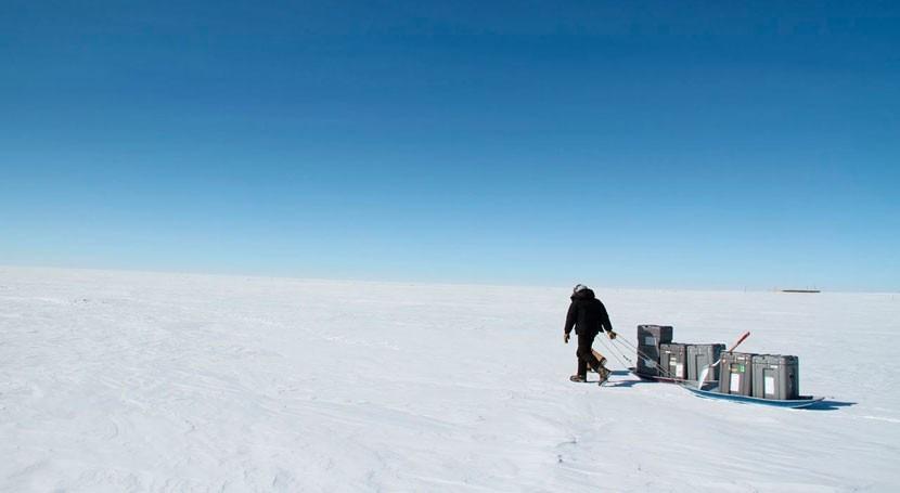 capa aislante aire hielo Groenlandia reduce precipitaciones