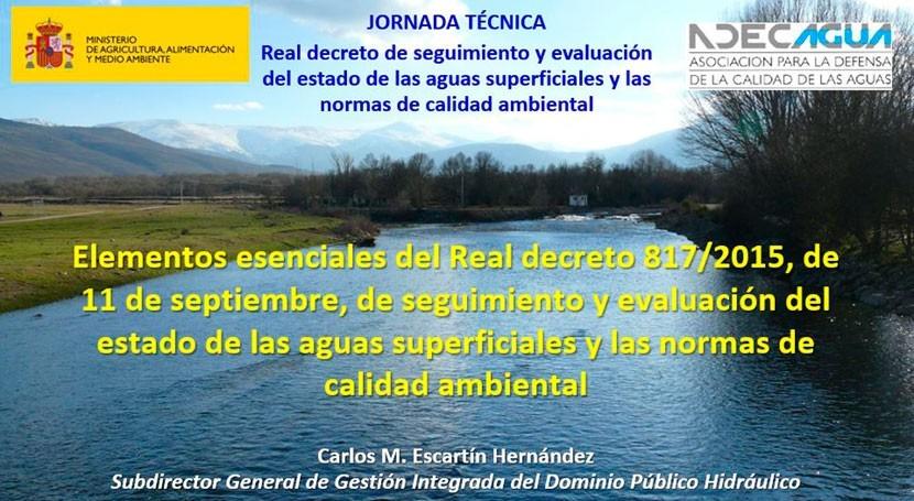 ADECAGUA publica ponencias MAGRAMA Real Decreto 8172015