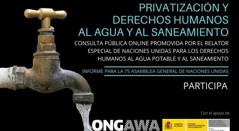 Consulta Relator NN.UU. Privatización y Derechos al Agua y al Saneamiento