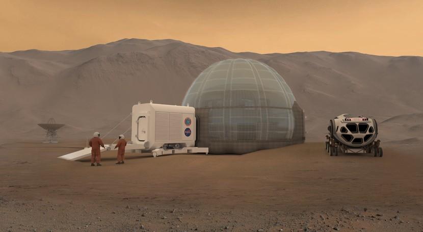 Mars Ice Home: ¿Podría ser hielo material idóneo construir casas Marte?
