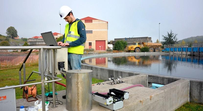 Monitorización calidad agua y aire obra civil
