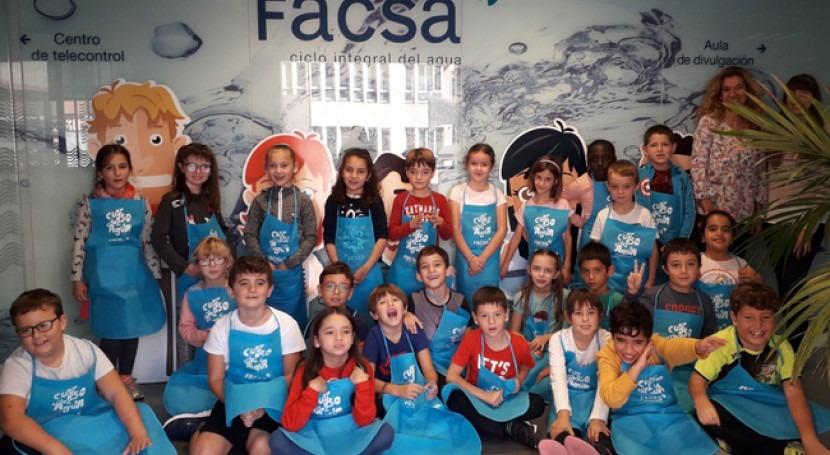 Más 7.000 escolares aprenden hacer uso responsable agua mano FACSA