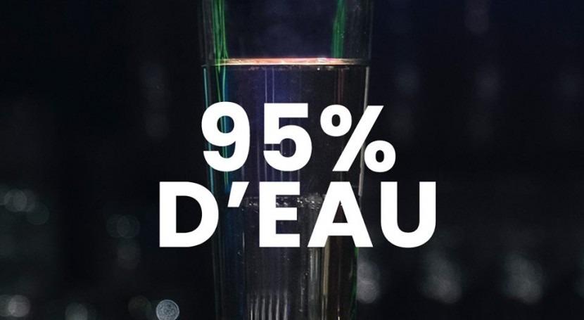 buena cerveza es 95 % agua