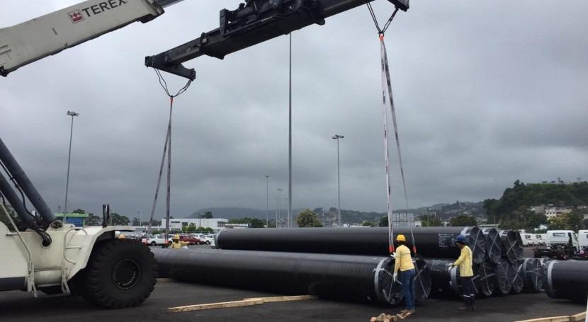 tuberías línea conducción Chalpi Grande-Papallacta ya están Ecuador