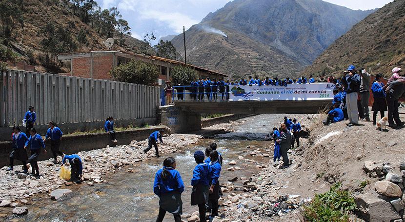 ANA realiza campaña cuidar río Vichaycocha comunidad altoandina Huaral