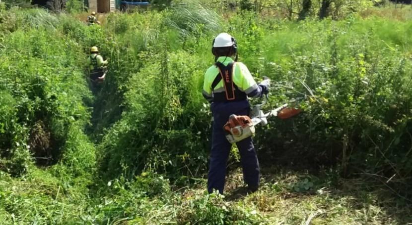 CHC acomete limpieza varios arroyos inmediaciones Camargo